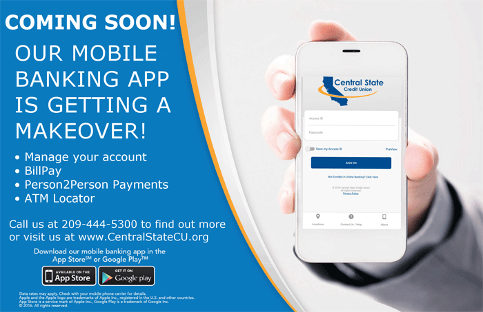 Coming soon!  Our mobile banking app is getting a makeover!